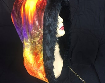Velvet Mandala Reversible Hood