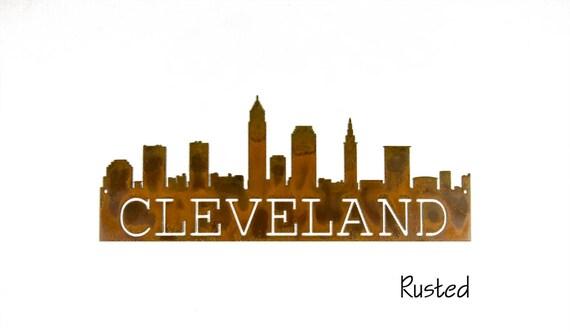 Cleveland Skyline metal art