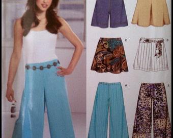 New Look 6596  Misses' Capri Pants, Shorts And Skirt   Size (8-18)  UNCUT