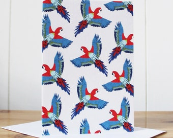 Parrot Notecard - thank you card - note card - notecard set- notelet - notecard - blank notecard - parrot card - parrot - tropical