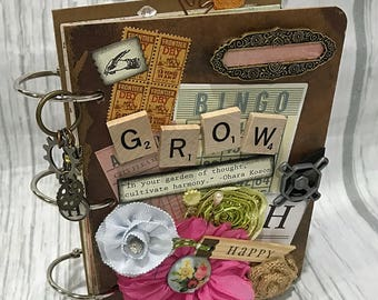 3 Ring GROW Planner Organizer Mini Album Junk Journal Smash Book Scrapbook Art Journal