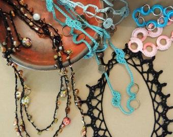 PATTERNS - Summery Crochet Jewelry plus bonus patterns