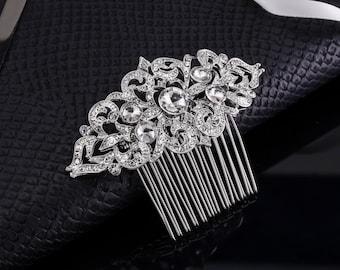 Wedding Comb Crystal Comb Veil Comb Rhinestone Comb Bridal Comb Bridal Hair Jewelry Rhinestone Headband Rhinestone Hair Pin Silver Comb