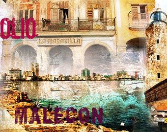 Colorful Wall Art, Digital Art, Printable Poster, Digital Download, Printable Photography, Printable Art,  Photographic Collage, Cuba