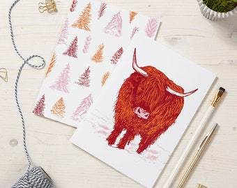 2 pack Highland Cow Notebooks / Highland Cow Notepads