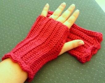 Raspberry Fingerless Gloves - Berry Fingerless Gloves - Raspberry Texting Gloves - Berry Texting Gloves - Burgundy Fingerless Gloves