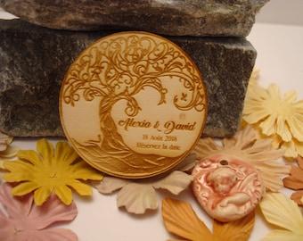 Lot 10 02079 wooden wedding Invitation