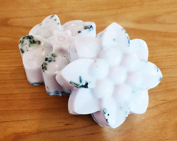 French Lavender Goat Milk Soap | Handmade Soap, Goats Milk, Lavender Bud Soap | Flower Lavender Soap | Goat's Milk Soap Lavender Scent