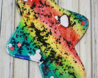 "11"" heavy cloth pad, overnight cloth pad, hand dyed pad, incontinence pad, made by mothers"