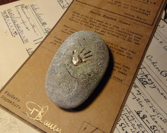 """Faerie Touched Stone  """"HANDMADE"""" Fantasy Creature/Mythology/Folklore/Fairy Tale/Fairy gift Ideas/sculpture/dungeons and dragons/prop/wiccan"""