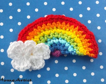 Crochet Applique Rainbow