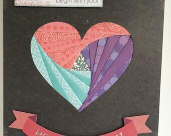 Birthday Card - Iris Fold