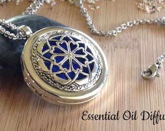 Oil Diffuser Necklace - Dream Catcher Essential Oil Diffuser Necklace Locket - Gift