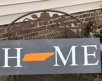 Home State Wood Sign, Home State Signs