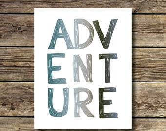 8x10 print - Adventure - Woodland - camping -outdoorsy - INSTANT DIGITAL DOWNLOAD