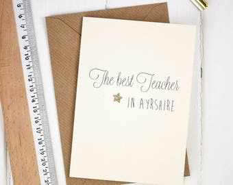 Personalised Best Teacher card