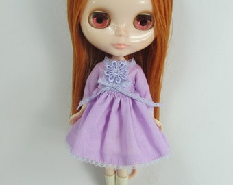 Handcrafted long sleeve dress outfit for Blythe doll 957-16