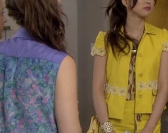 Flower Cuff As Seen on Gossip Girl on Kati Farkas : Blair Waldorf's Minion in Season 5 Finale