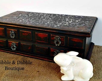 Vintage Jewelry Box, OOAK, Gift for Her, Keepsake Box