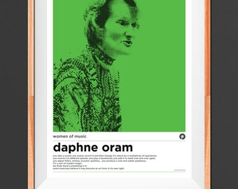 A3 Daphne Oram Women of Music Poster
