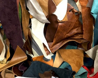 Assorted Upholstery Leather Scrap 5LBS