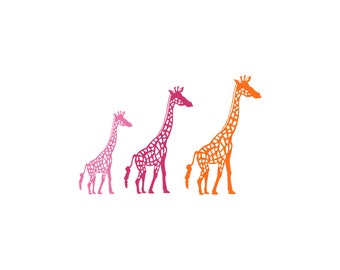 Tower of Giraffes Family Car Decal