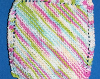 Knitted cotton dishcloth *Free Shipping*