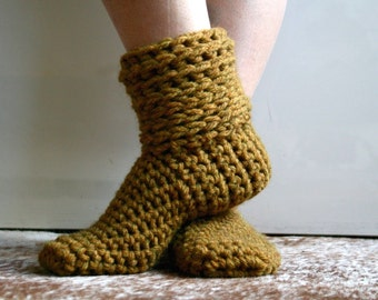 Crochet Pattern, crochet slipper pattern, Super chunky home boots 229 INSTANT DOWNLOAD