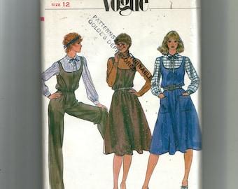 Vogue Misses' Jumper, Jumpsuit and Blouse Pattern 7890