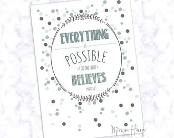"Postcard ""Everything Is Possible"""