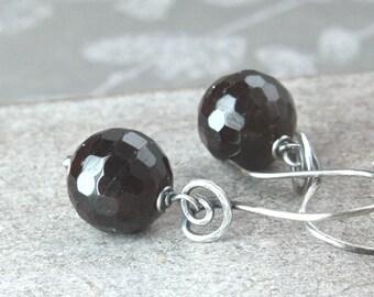 Dark Red Garnet   Earrings  Oxidized Silver Gemstone Jewelry January Birthstone Earrings Sterling Silver  Garnet Jewelry Hildes Jewellery
