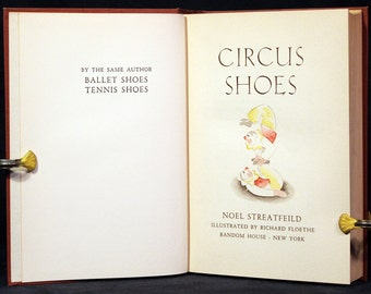 Noel Streatfeild Circus Shoes Vintage Childrens Story Shoe Books Peter and Santa Orphans Cob's Circus