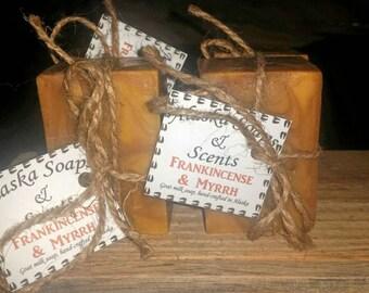 Frankincense & Myrrh Goat Milk Soap