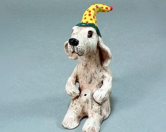 SCHMOOZER - A Whimsical Ceramic Party Animal Dog