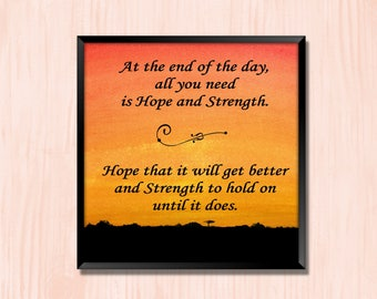 Hope and Strength - Instant Downloadable Art Print Digital Wall Art Printable Inspirational Quote Art Home Decor