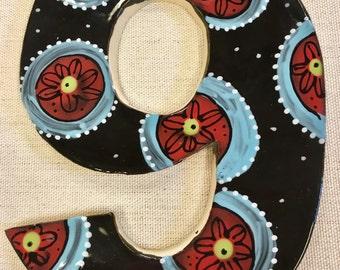 Black Custom Number Handmade Mosaic Tiles