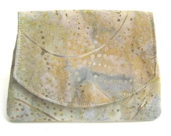 Pale Green Vines Batik Wallet