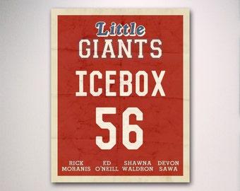 Little Giants Inspired Minimalist Movie Poster / Minimalist Movie Poster / Wall Art