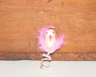 Vintage Spun Cotton Chick with Chenille stem