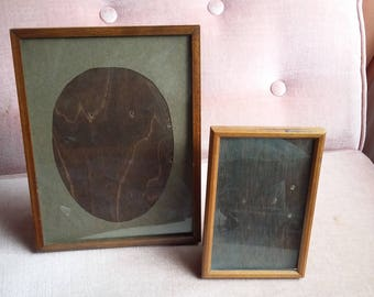 Pair of Vintage Early 20th C Freestanding Picture Photo Frames