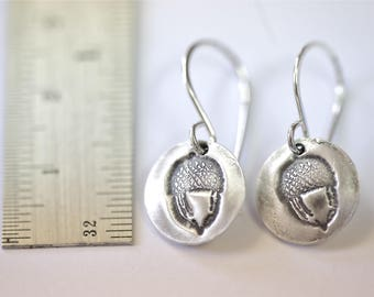 Sterling Acorn Earrings