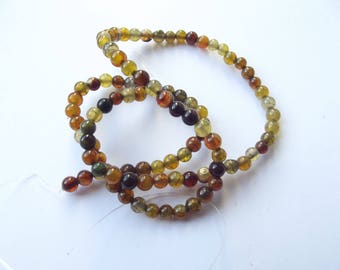 colored 4 mm CHEBAR 516 dragon vein agate 94 beads
