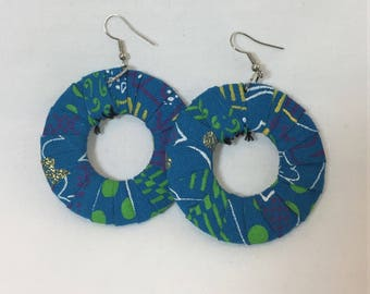 African Earrings - blue
