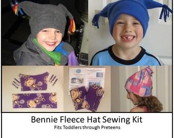 Kit de couture de chapeau en laine polaire - un taille, filles, garçons, facile à coudre, patron Kit, Kit de métier, fournitures de bricolage, chapeau polaire, personnalisé
