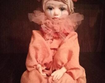 Collectible doll movable Piroska