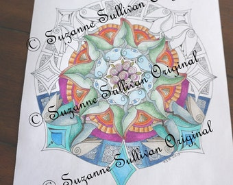 Mandala Coloring Page, Adult Coloring Page, Coloring Book Page, New for 2018, Stress Relief Coloring, 298, Coloring for Adults, Coloring