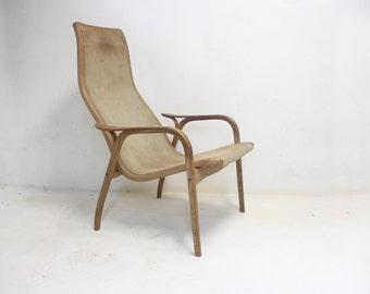 Swedese Lamino Suede Lounge Chair conçue par Yngve Ekström