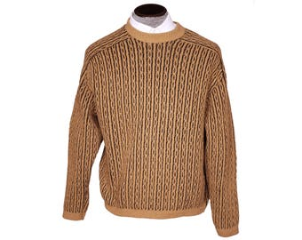 Vintage 60s Kon Tiki Montreal Wool Pullover Sweater Mens Size L Large