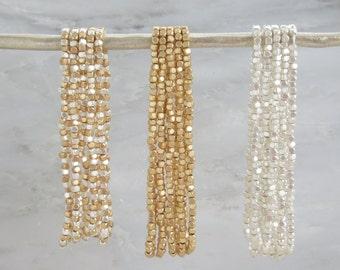 Beaded Bracelet - layering Bracelet - Gold Bracelet - Silver Bracelet