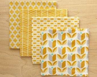Set of 4 Mismatched Cloth Napkins